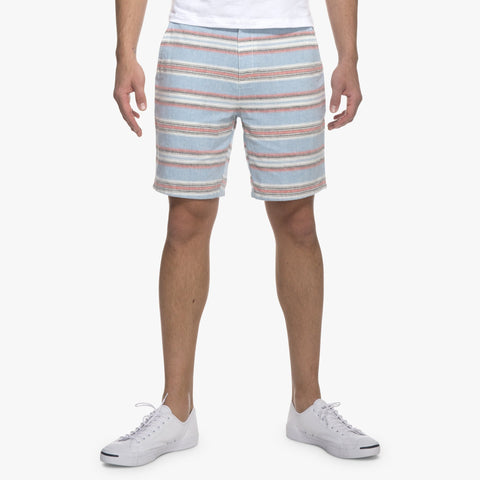Ebb Tide Cotton/Linen Horizontal Striped Shorts