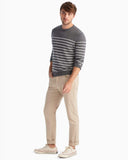 Shane Striped Crewneck Sweater