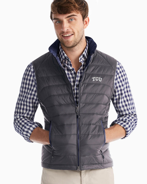Texas Christian University Straits Quilted 2-Way Zip Front Vest