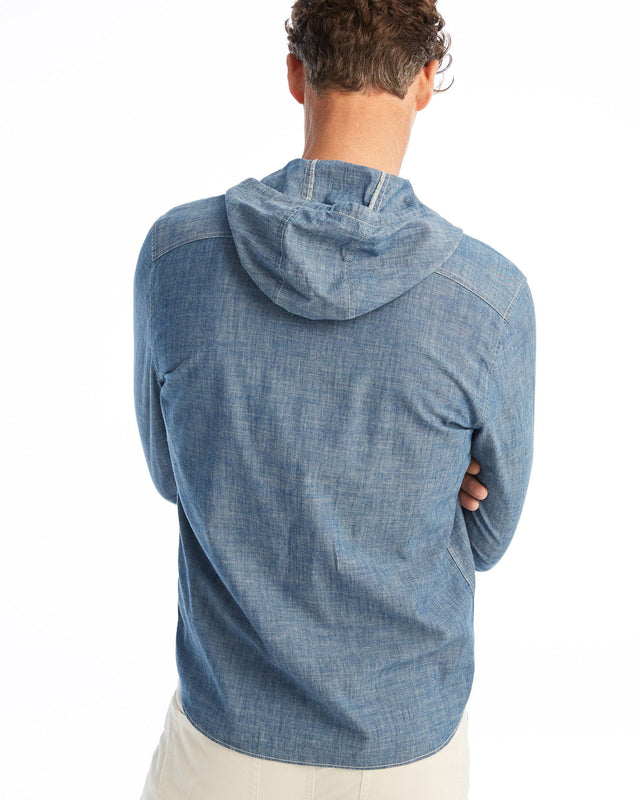 Norwood Long Sleeve Hoodie Woven Shirt