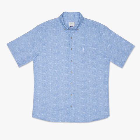 Cole Printed Hangin' Out Short Sleeve Button Down Shirt