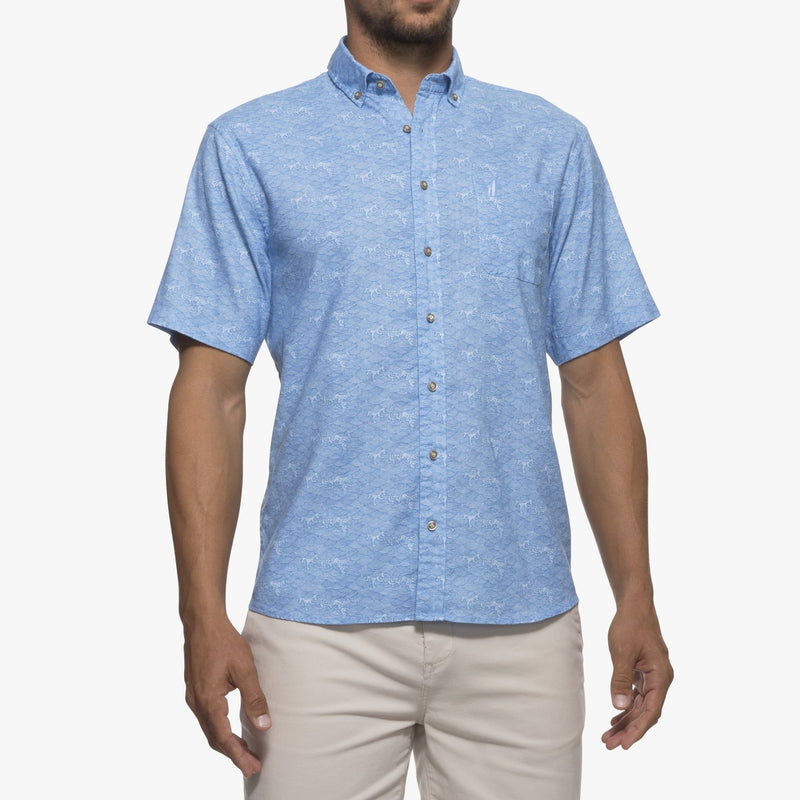 Big and Tall Cole Printed Hangin' Out Short Sleeve Button Down Shirt