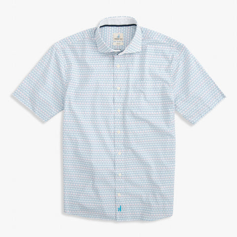 Bluefields Cut Away Collar Hangin' Out Short Sleeve Shirt