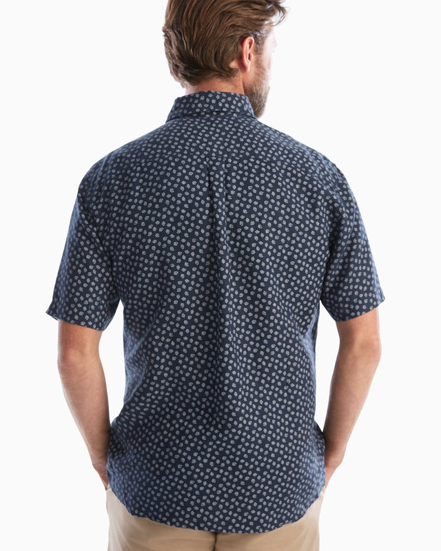 Dixon Printed Hangin' Out Button Down Short Sleeve Shirt