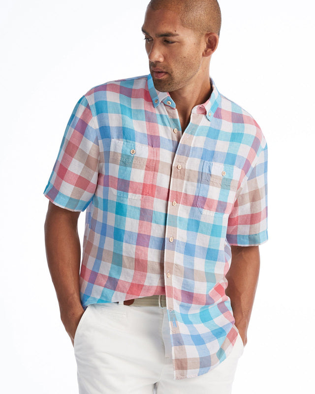 Presley Hangin' Out Button Down Short Sleeve Shirt