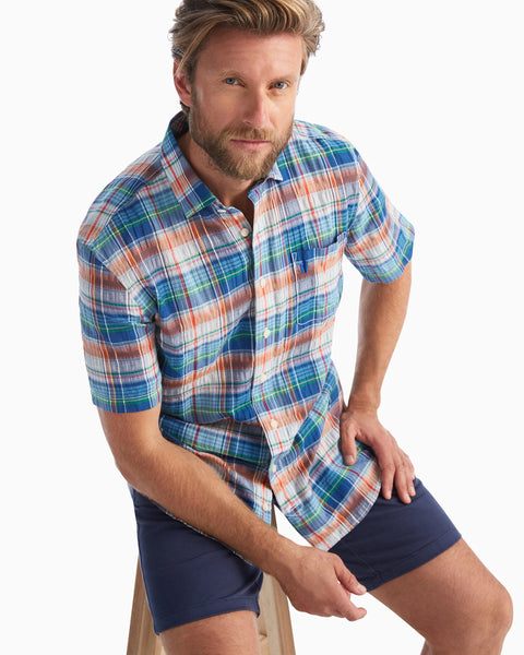 Troy Hangin' Out Button Down Short Sleeve Shirt