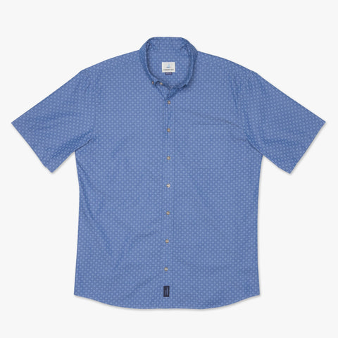Barclay Printed Short Sleeve Button Down Shirt
