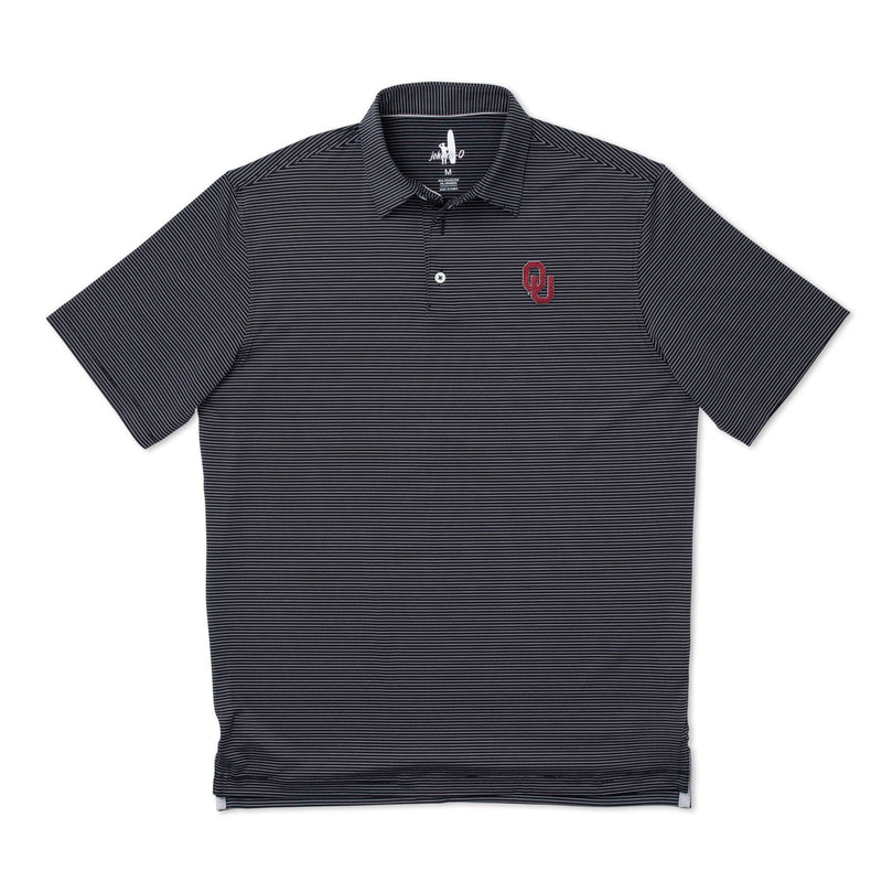 Oklahoma University Albatross PREP-FORMANCE Striped Polo