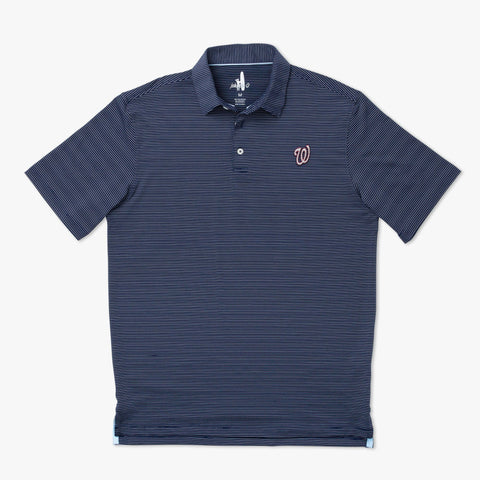 Nationals Albatross PREP-FORMANCE Striped Polo