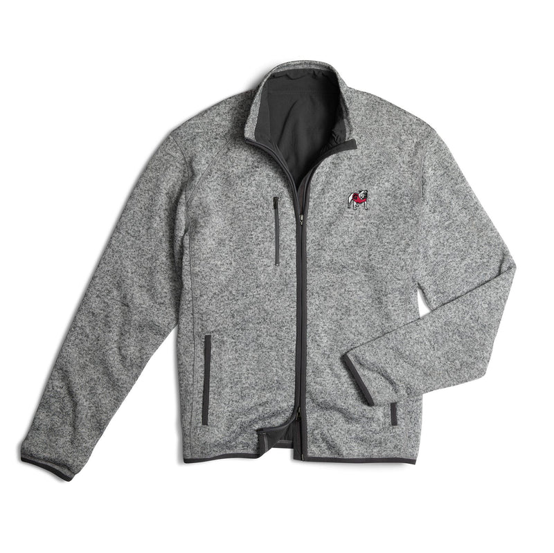 University of Georgia Bates 2-Way Zip Jacket - Standing Bulldog