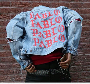 """I Feel Like Pablo"" Jean Jacket"