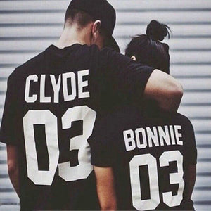 Bonnie & Clyde Couple Tshirt (2 colors)