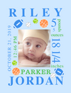 Canvas Image Wrap-Sports Balls & Arrows Themes for Baby's Birth