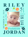 Easel Back Canvas-Sports Balls & Arrows Themes for Baby's Birth