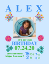 Framed Canvas for Birthday Milestones: 6 COLORFUL Themes to choose from
