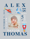 Framed Canvas-Helicopter, Flying & Toys  Themes for Baby's Birth