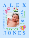 Canvas Image Wrap-Butterflies & Bugs Themes for Baby's Birth