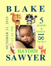 Canvas Image Wrap-Zoo, Wildlife & Safari Themes for Baby's Birth