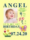 Easel Back Canvas for Birthday Milestones: 6 COLORFUL Themes to choose from