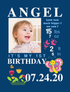 Hanging Canvas for Birthday Milestones: 6 COLORFUL Themes to choose from