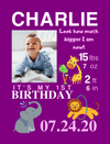 Easel Back Canvas for Birthday Milestones: 5 ANIMAL/NATURE Themes to choose from
