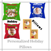 """Holiday"" Designs Pillows (insert included)"