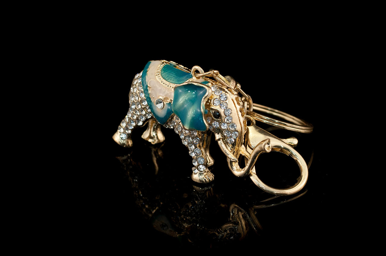 5150KC010 - Gold Enamel Elephant