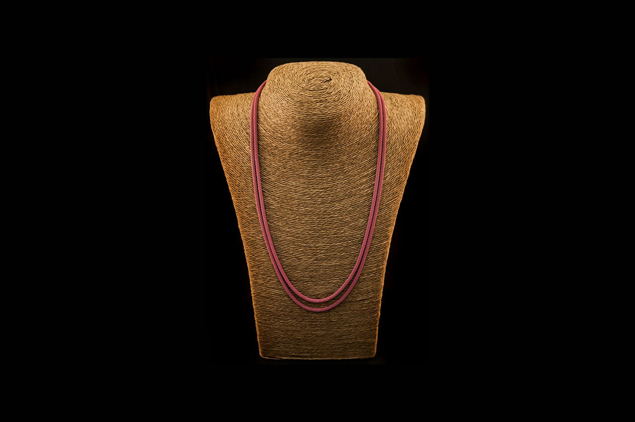 6035NE024 - Dusty Rose String Necklace
