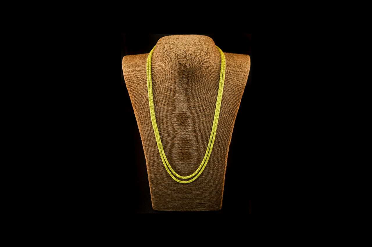 6035NE037 - Lime String Necklace