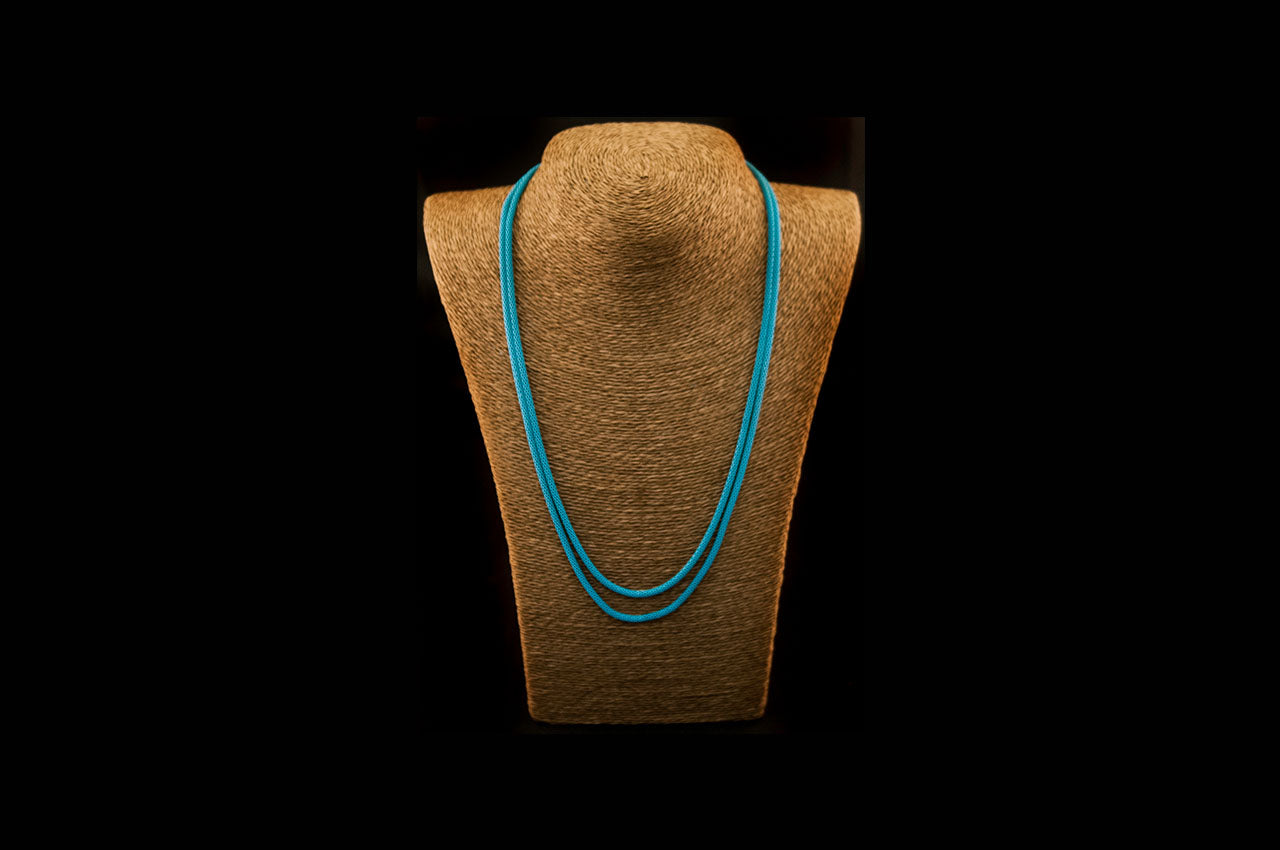 6035NE045 - Turquoise String Necklace