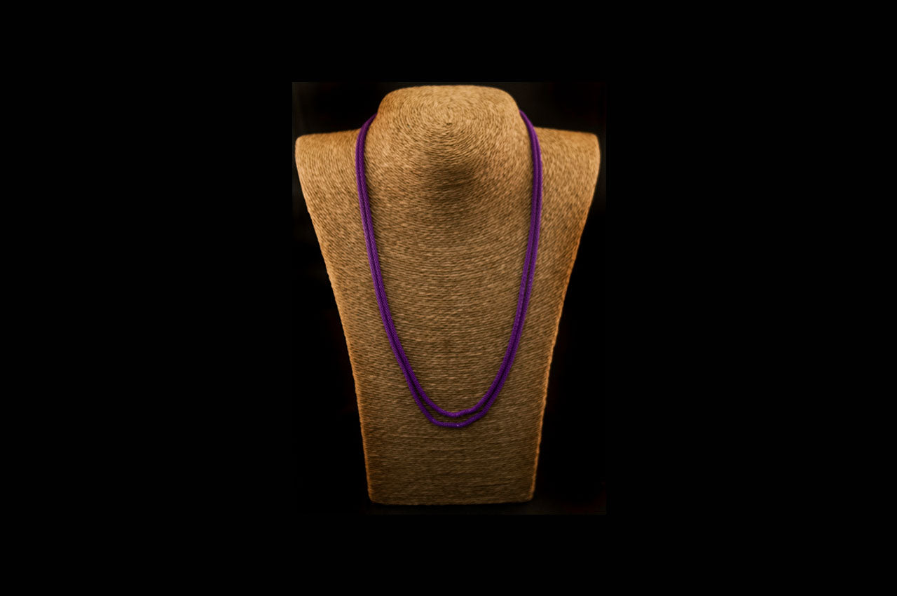 6035NE047 - Light Purple String Necklace