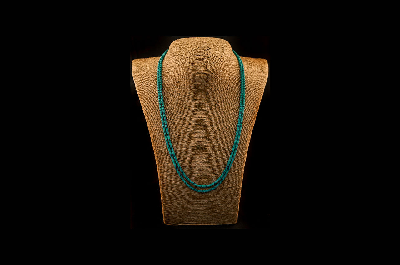 6035NE051 - Medium Green String Necklace