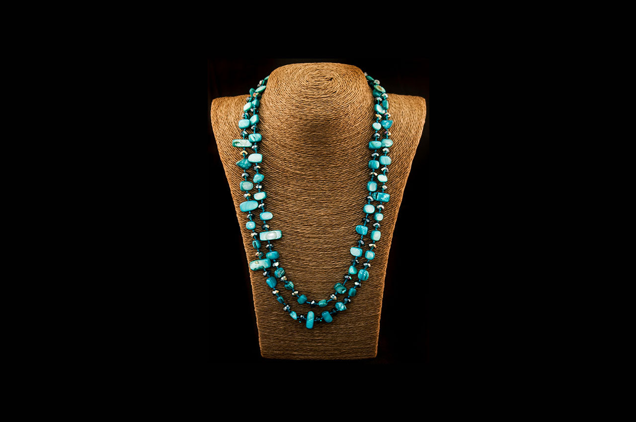 6150NE004 - Teal Stone Necklace