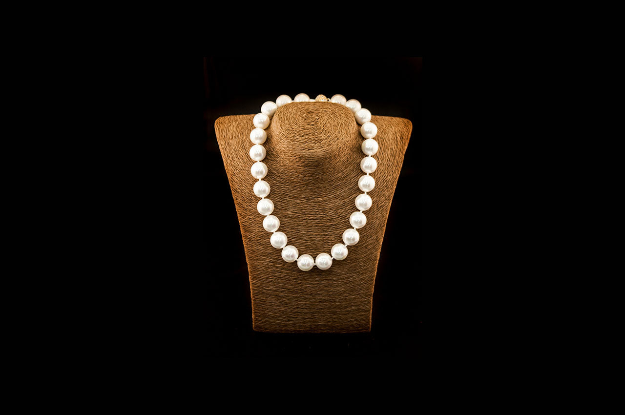 6600NE053 - Cream Crushed Pearl Necklace