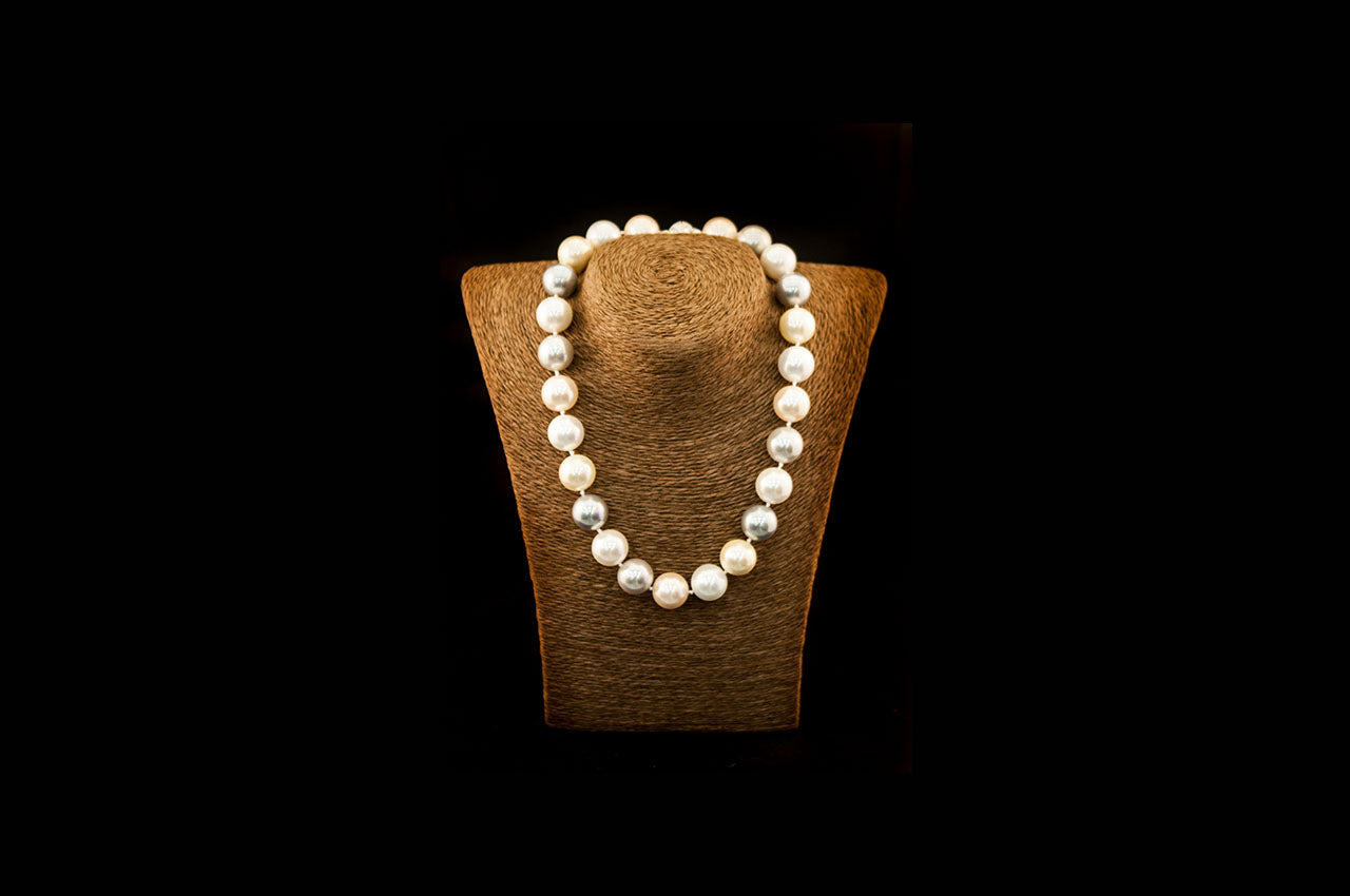 6600NE055 - Mixed Crushed Pearl Necklace