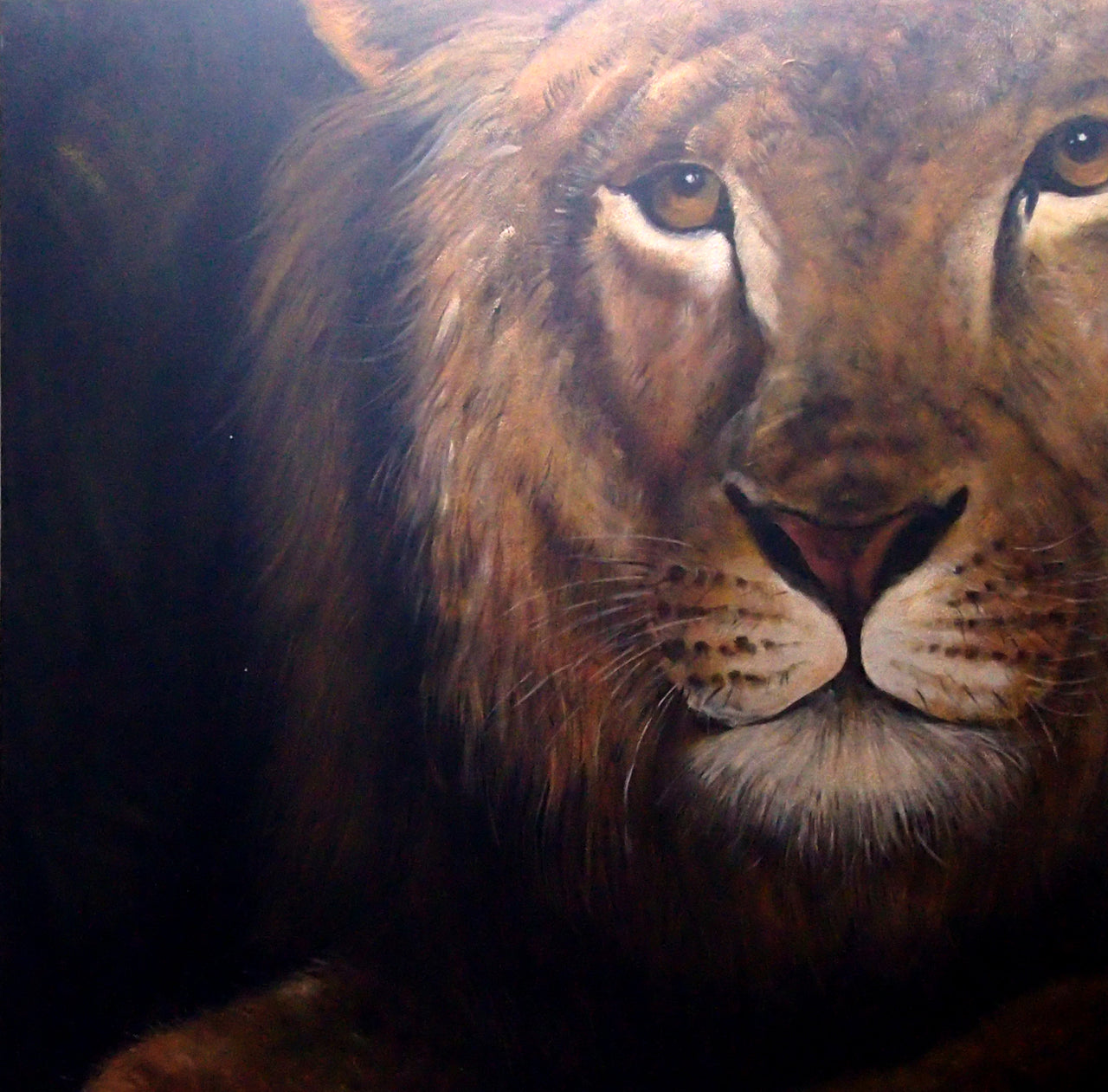 "AN4020425 - 40""x40"" Original Oil Painting"
