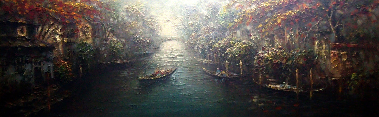 "BB6820318 - 24""x72"" Original Oil Painting"