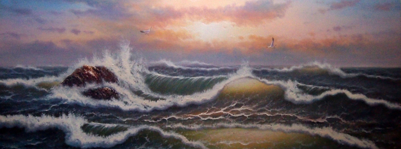 "BB6820334 - 24""x72"" Original Oil Painting"