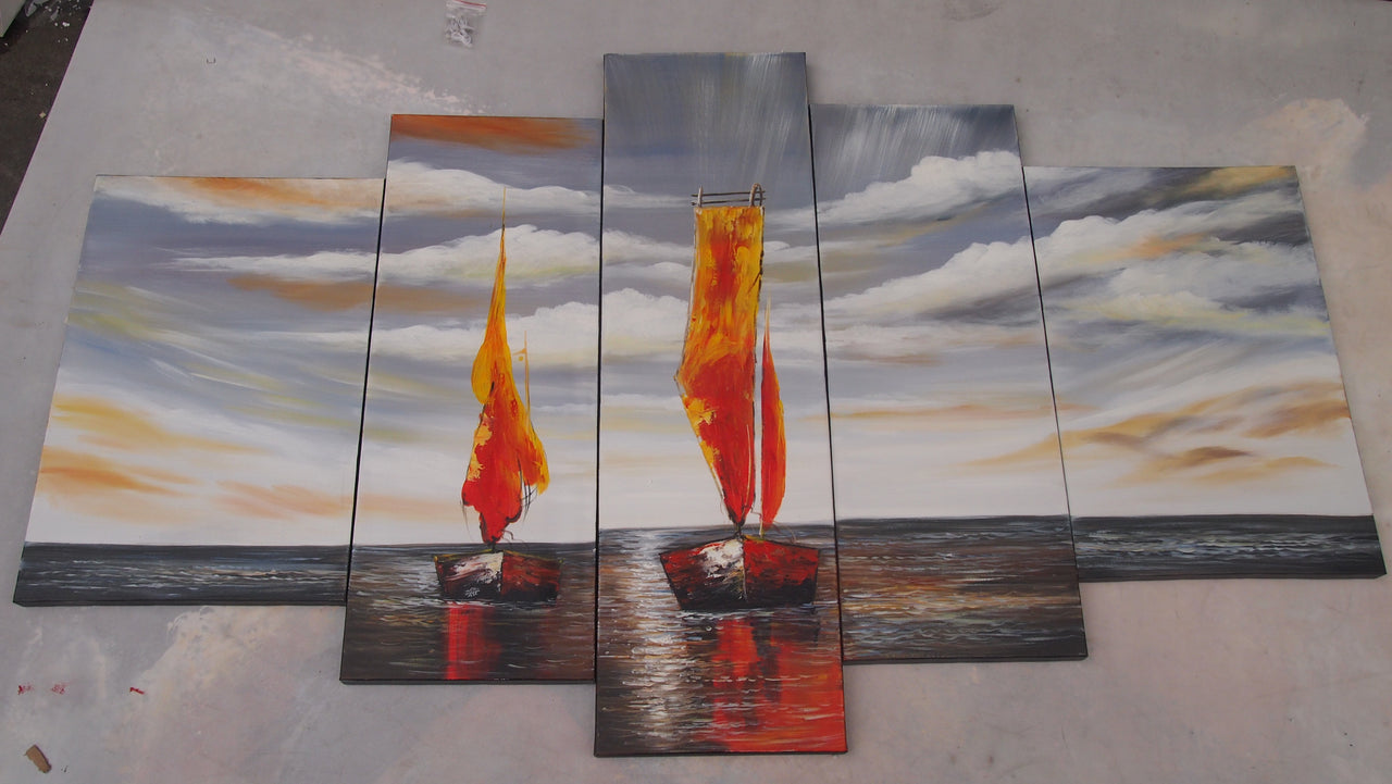 BBTT20488 - Triptych Original Oil Painting