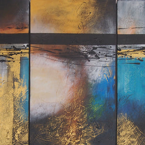 CTTT20456 - Triptych Original Oil Painting