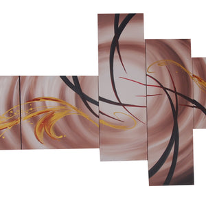 CTTT20459 - Triptych Original Oil Painting