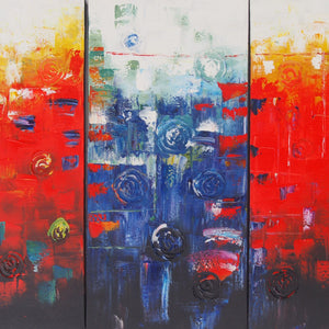 CTTT20480 - Triptych Original Oil Painting
