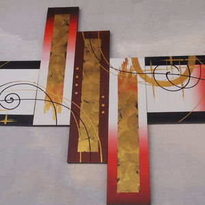 CTTT20486 - Triptych Original Oil Painting