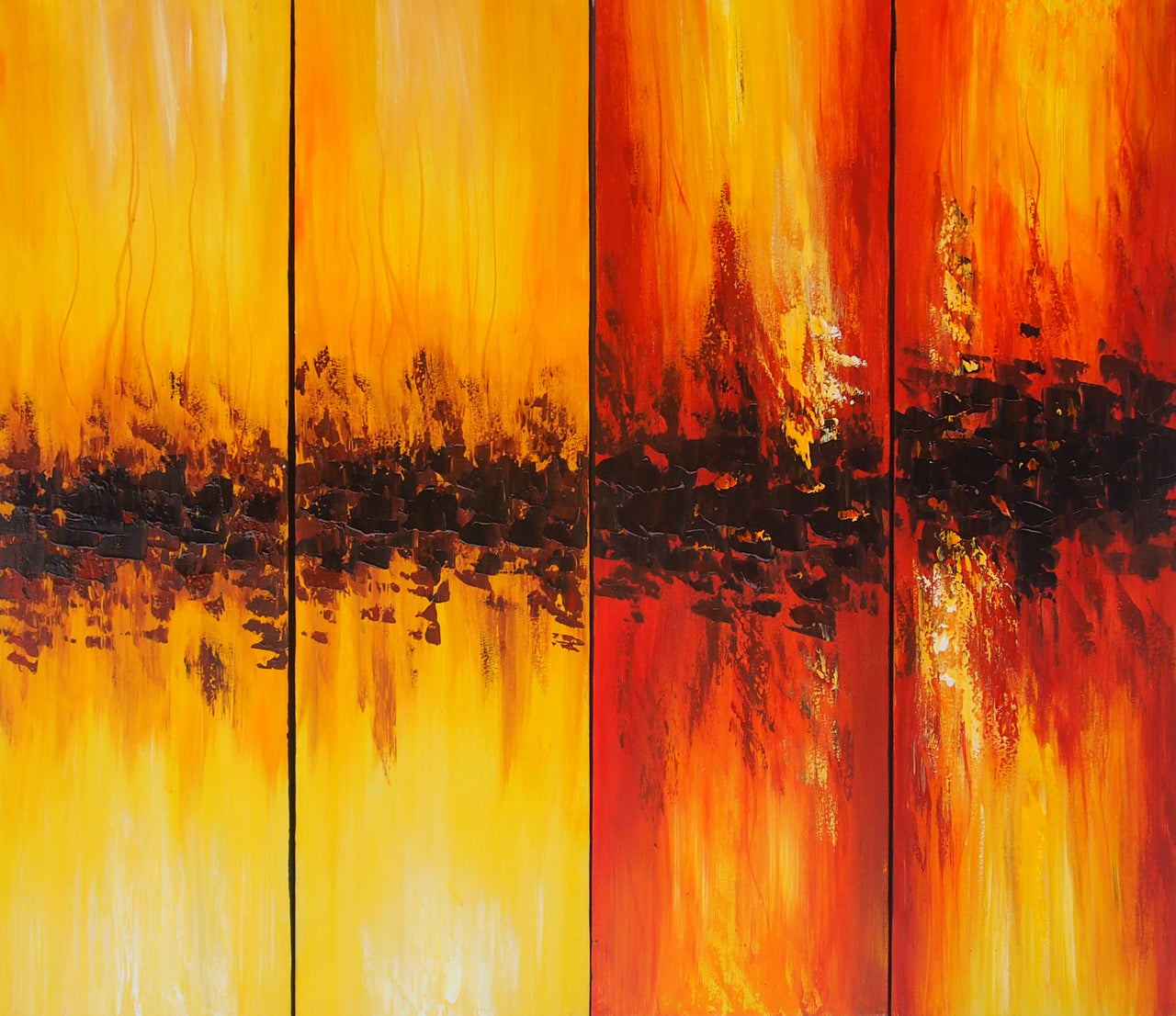 CTTT20502 - Triptych Original Oil Painting