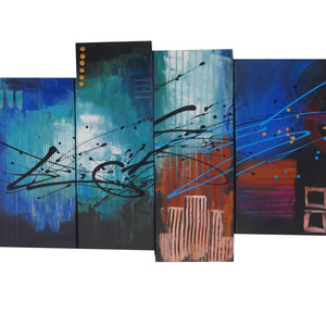 CTTT20533 - Triptych Original Oil Painting