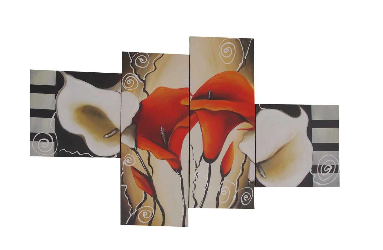 FLTT20462 - Triptych Original Oil Painting