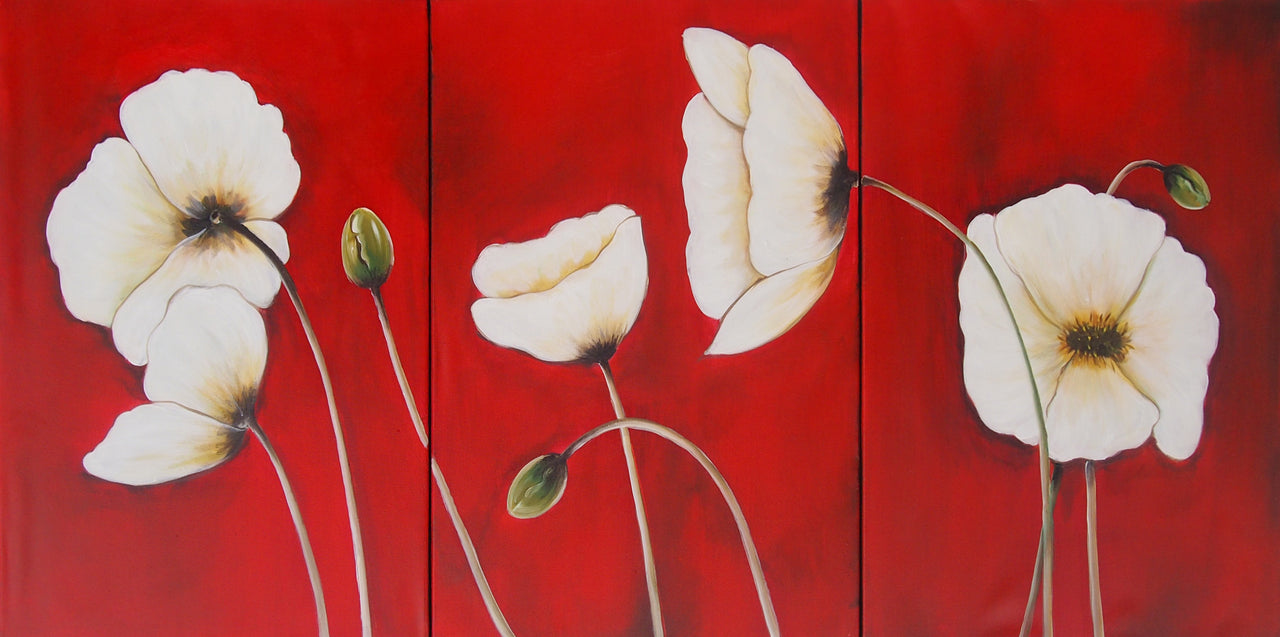 FLTT20515 - Triptych Original Oil Painting
