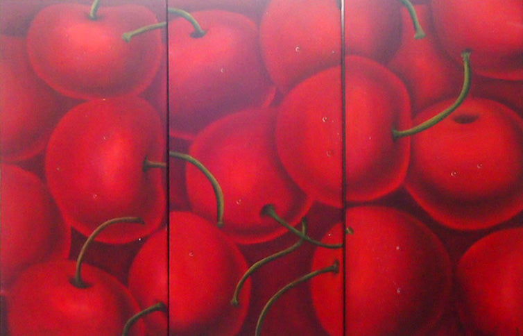 FWTT19309 - Triptych Original Oil Painting