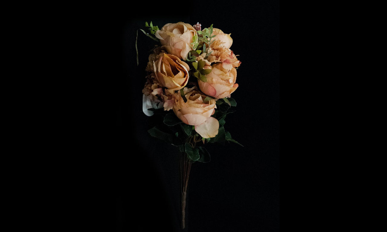 HCFL4755 - Deep Peach M Rose Bouquet