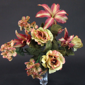 HCFL5850 - Orange Rose/Lily Bouquet
